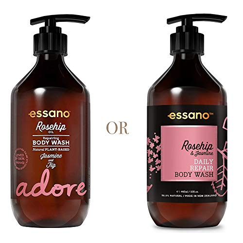 (Essano Rosehip & Jasmine Daily Repair Body Wash, 445ml (15oz) )