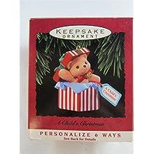 1993 Hallmark Ornament a Child's Christmas Personalize Qx5882
