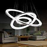 HOMEE Ceiling Chandelier-Illumination Modern Living Room Chandelier Restaurant Bedroom Study Led Acrylic Rounded Chandelier Indoor Light,60+40+20Cm