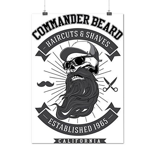 Commander Beard USA Haircuts Matte/Glossy Poster A4 (9x12 inches) | Wellcoda (50s Haircuts)