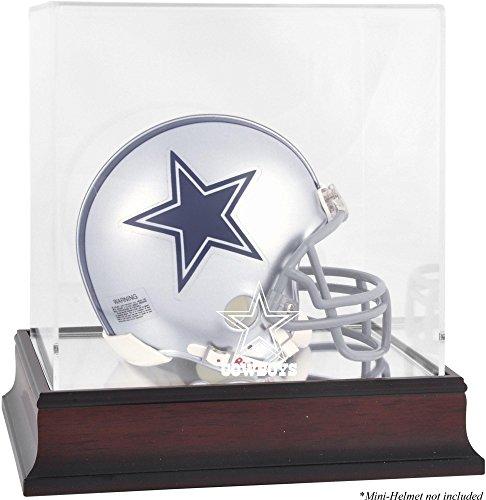 Cowboys Logo Display Case (Dallas Cowboys Mahogany Mini Helmet Logo Display Case)