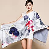 Women's Double Scarf Thicker Double-Sided Brushed Scarf Shawl , Slim shackles