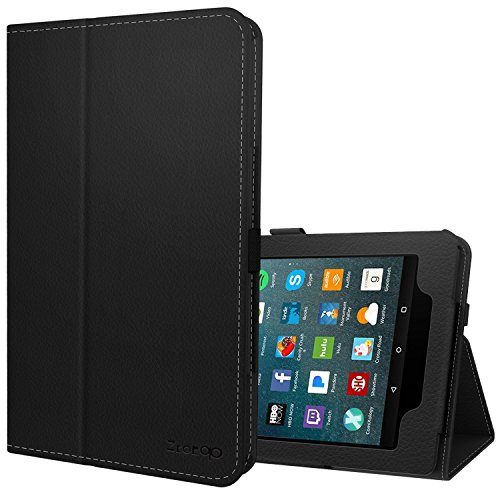 Folio Tablet 7 (Ztotop Folio Case for All-New Amazon Fire 7 Tablet (7th Generation, 2017 Release) - Smart Cover Slim Folding Stand Case with Auto Wake/Sleep for Fire 7 Tablet,Black)
