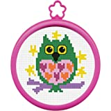 Arts & Crafts : Bucilla My 1st Stitch Mini Counted Cross Stitch Kit, 45641 Owl