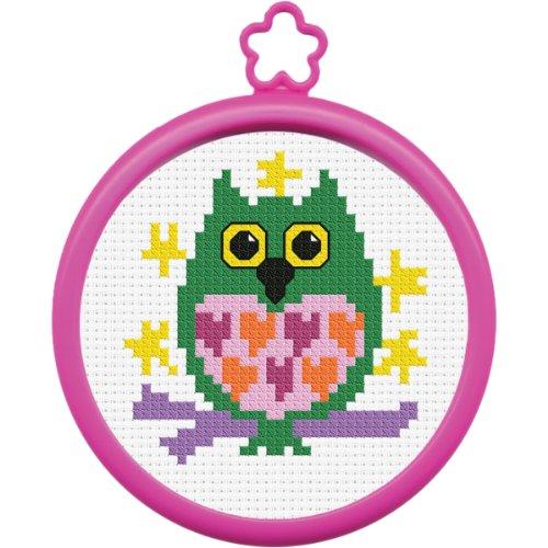 Bucilla My 1st Stitch Mini Counted Cross Stitch Kit, 45641 Owl ()