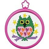 Bucilla My 1st Stitch Mini Counted Cross Stitch Kit, 45641 Owl