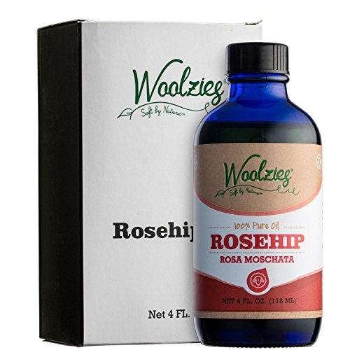 Woolzies 100% Pure Natural Rosehip Essential Oil 4oz, Skin and Hair Moisturizer (Vital Rose Moisturizer)