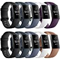 AIUNIT Bands Compatible for Fitbit Charge 3 Smart Watch (3-Count)
