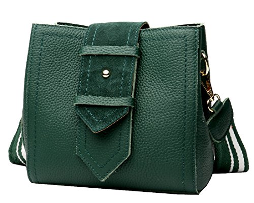Womens Cross and Small Bag Dark Shoulder Handbags Vintage Bags Satchel for Purses Green Body Ladies and Heshe Leather 6pq84wO