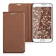 kwmobile Practical and chic FLIP COVER protective shell for Samsung Galaxy S5 / S5 Neo / S5 LTE+ / S5 Duos in copper