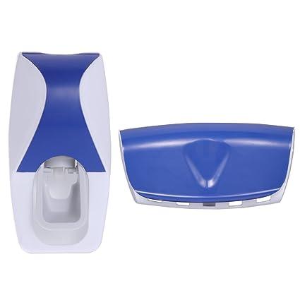 OUNONA Dispensador de Pasta de Dientes Automático y Portacepillos de Dientes con conjunto de portaescobillas para