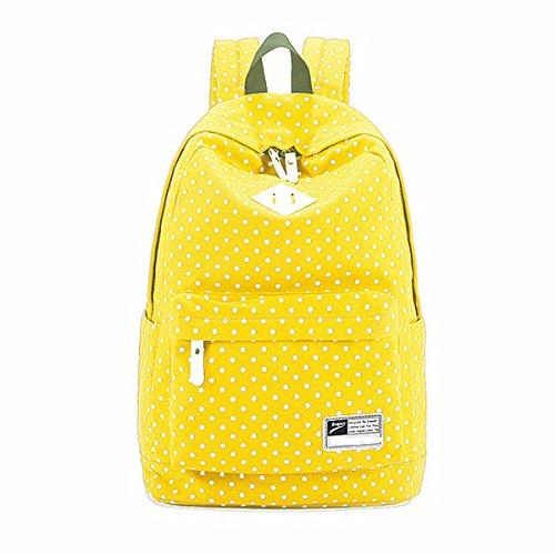 8872 Bag Bag Laptop Girls For Backpack Yellow Rose Travel Zhuhaixmy QR Teenage Dot School Canvas wqaRA7