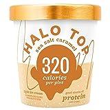 Halo Top, Sea Salt Caramel Ice Cream, Pint (Pack of 8)