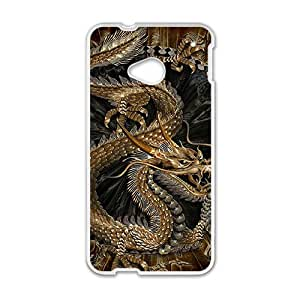 Custom Art Dragon Chinese Style Diseño Protective Skin Case for HTC One M7