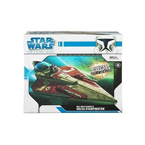 Star Wars The Clone Wars: Obi-Wan's Delta Starfighter [Toy]