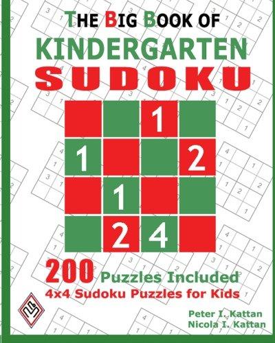 Download The Big Book Of Kindergarten Sudoku: 4X4 Sudoku Puzzles For Kids pdf epub
