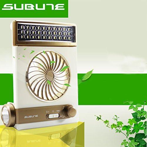 LaDicha Subute Ventilador Solar Luz Led Lámpara Linterna USB Carga ...