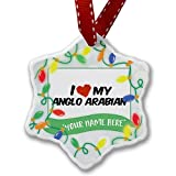 Personalized Name Christmas Ornament, I Love my Anglo-Arabian, Horse NEONBLOND