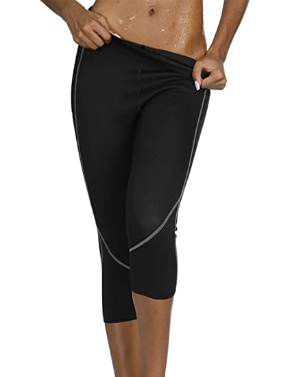 b70f6cfbde05f Slimming Neoprene Pants Fat Burning Sweat Leggings Sauna Weight Loss Pants  Black3 S