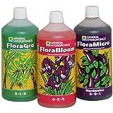 Senua-General Hydroponics Hard Warter Flora Series QT - FloraGro,...