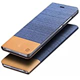 Apple iphone 5C Case,Vandot 3in1 Set Luxury PU Leather Jeans Business Style Men Wallet Bag Case Flip Folio Stand Soft TPU Hybrid Skin Cover Shell+USB Sync and Charging Data Cable+Stylus Pen-Light Blue Brown