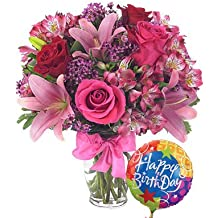 Colorful World Birthday Bouquet - Same Day Birthday Flowers Delivery - Online Birthday Gifts - Birthday Present Ideas - Happy Birthday Flowers - Birthday Party Ideas