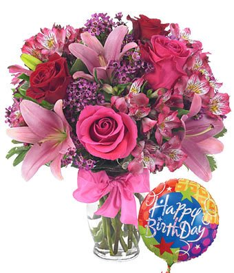 Colorful World Birtthday Bouquet - Same Day Birthday Flowers Delivery - Online Birthday Gifts - Birthday Present Ideas - Happy Birthday Flowers - Birthday Party Ideas