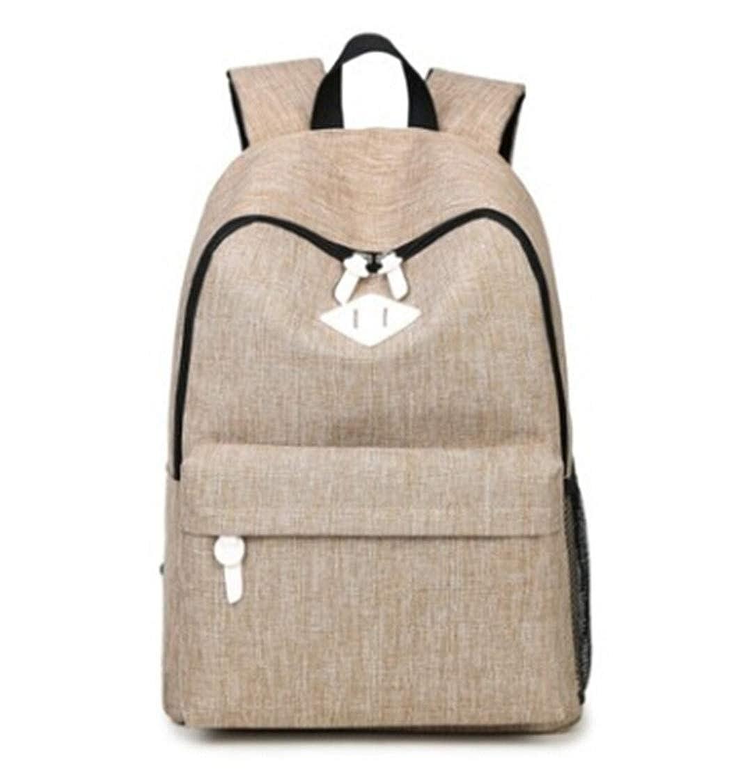 Amazon.com | Fashion Canvas Backpacks Large School Bags For Girls Boys Teenagers Laptop Bags Travel Rucksack Black 29x43x14cm | Kids Backpacks