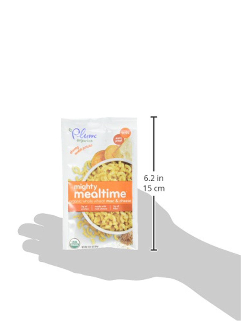 Amazon.com : Plum Organics Tots Mighty Mealtime Mac & Cheese, Cheesy Sweet Potato, 1.19 Ounce (Pack of 9) : Grocery & Gourmet Food
