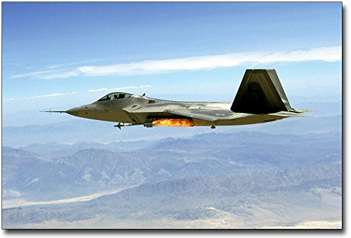 Lockheed F-22 Raptor Fires Missile 8x12 Silver Halide Photo Print