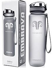 Beste Sport Trinkflasche - 1000ml - schnell fließend, aufklappbarer auslaufsicherer Deckel mit einem Klick zu öffnen - ungiftig BPA-frei & umweltfreundlicher Copolyester-Tritan Kunststoff