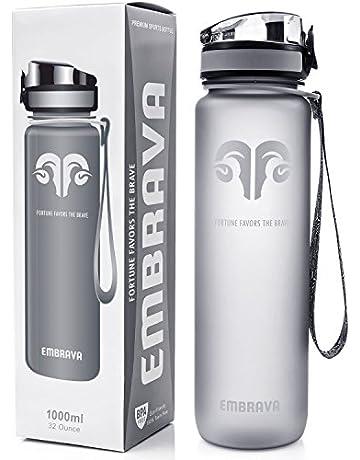 f5843a8875 Embrava Best Sports Water Bottle - 32oz Large - Fast Flow, Flip Top Leak  Proof