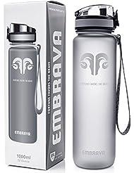 Best Sports Water Bottle - 32oz Large - Fast Flow, Flip Top Leak Proof Lid w/One Click Open - Non-Toxic BPA Free & Eco-Friendly Tritan Co-Polyester Plastic