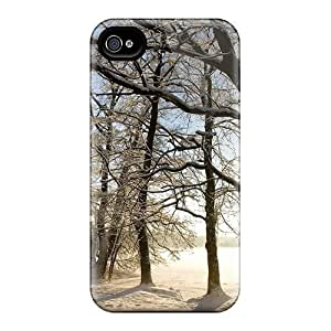 Protective Tpu Case With Fashion Design For Iphone 4/4s (winter Scenery Nature)