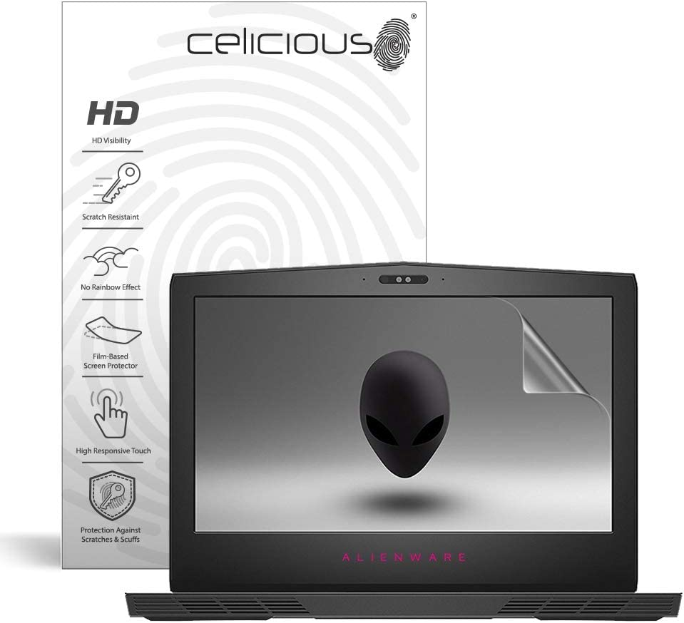 Celicious Vivid Plus Mild Anti-Glare Screen Protector Film Compatible with Dell Alienware 15 r2 Pack of 2 Touch