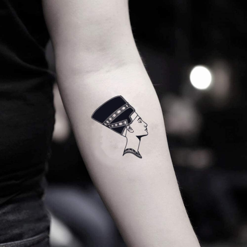 Tatuaje Temporal de Nefertiti (2 Piezas) - www.ohmytat.com: Amazon ...