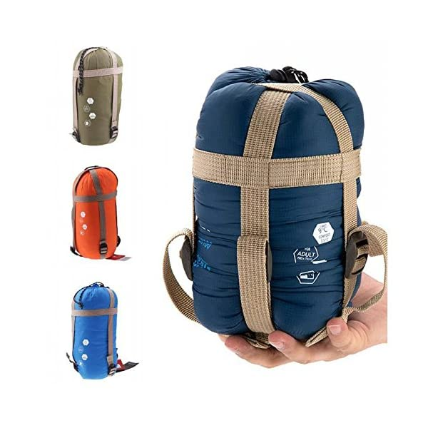 CAMTOA Outdoor Camping Sleeping Bag,Ultra-light Envelope Sleeping Bag for Travel Hiking - Spring, Summer & Fall Waterproof Sleeping Bag 4