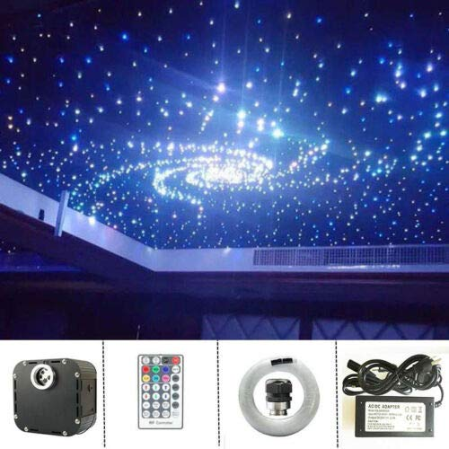 FidgetGear 50W DMX + Twinkle LED Star Ceiling Light Engine & RF Remote/Fiber Optic Cables 50W Light Engine only One Size