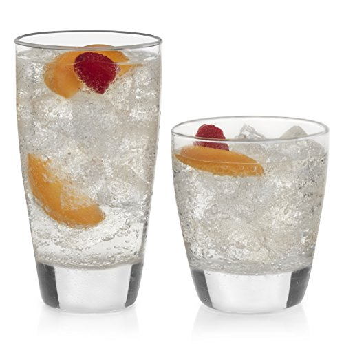 Libbey Classic 16-Piece Tumbler and Rocks Glass Set]()