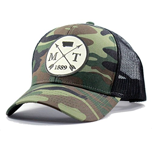 Homeland Tees Men's Montana Arrow Patch Army Camo Trucker Hat - Army Camo (Green Helena Arrow)