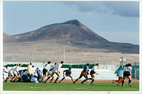 Vintage photo of Rugby football (England training)