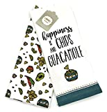 Laurel Home Happiness is Chips and Guacamole Coordinating Kitchen Towel Set