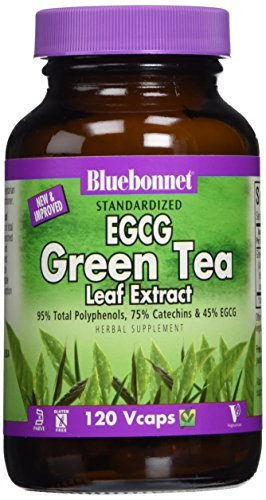 Herbals, EGCG Green Tea Leaf Extract, 200 mg, 120 Vcaps by Bluebonnet Nutrition by Bluebonnet Nutrition