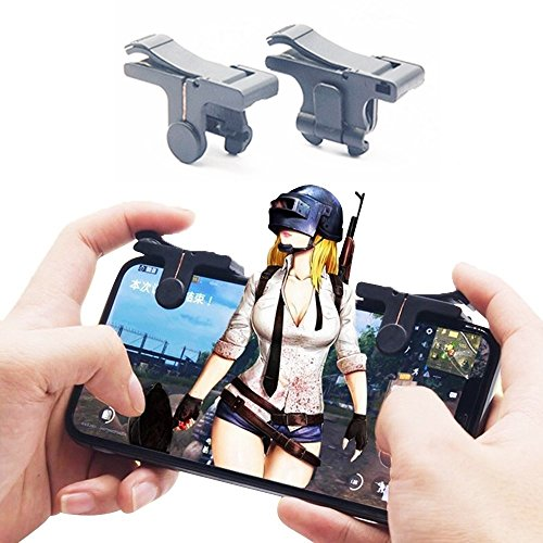Pubg Iphone Controller 6th Generation - Mobile Shooting Game Gamepad - Fortnite/Rules of Survival - for IOS/Android - High Endurance Button Touch Sensitive Shooting - by Wanstar by wanstar