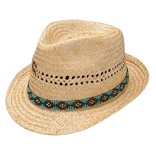 Charlie 1 Horse Women's Paradise Woven Palm Hat with Vented Crown, Toasted Large