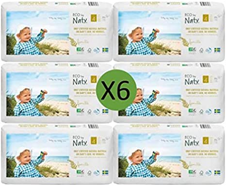 Naty Size 4 Nappies Eco Pack 6 x 44