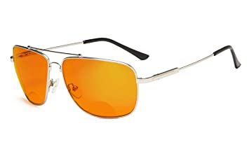 fa809570aa Eyekepper Square Memory Frame Blue Blocking Glasses for Sleep-Nighttime  Eyewear-Special Orange Tinted