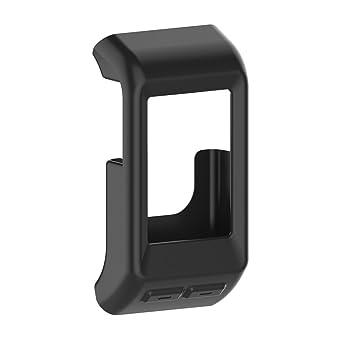 Funda de silicona para reloj de fitness para Garmin Vivoactive HR GPS , hombre, negro: Amazon.es: Deportes y aire libre