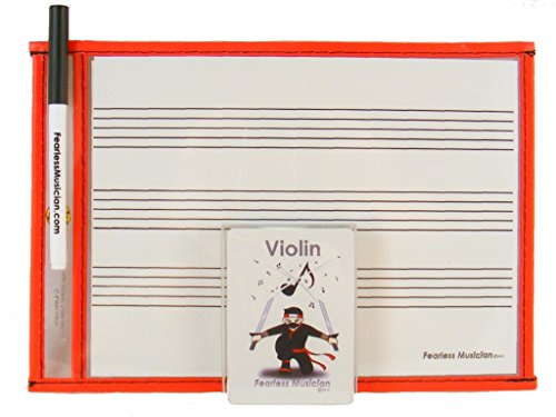Fearless Musician Music Flashcards and Music Notation Activity Kit for Violin (Suzuki Violin Flashcards)