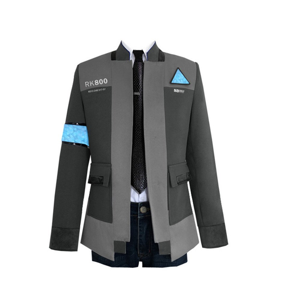 VOSTE Become Human Hoodie 3D Printed Hooded Pullover Sweatshirt Jacket Cap (Large, Full Set 1)
